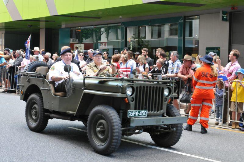 Veteran in Jeep