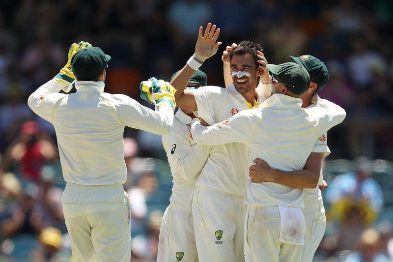 Aussie wicket celebration