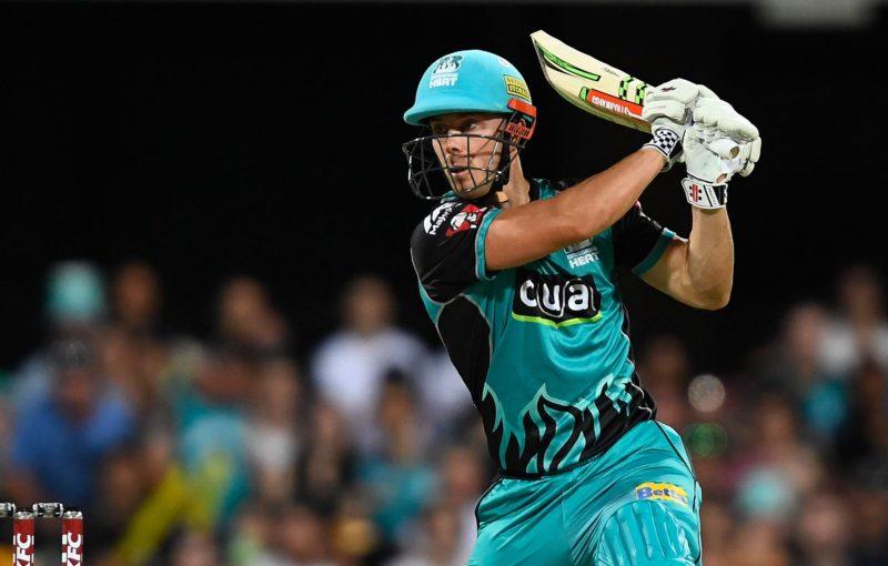 Chris Lynn batting for the Brisbane Heat