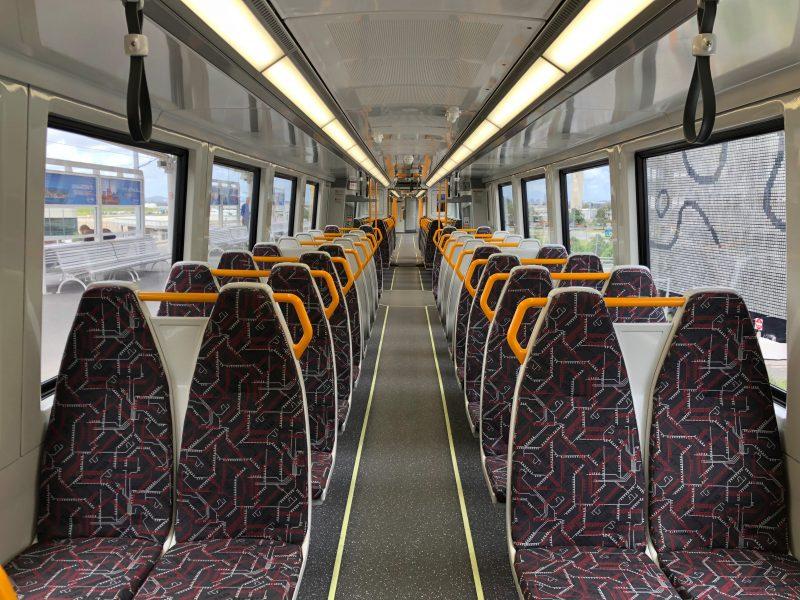 Train carriage inside Next Generation Rollingstock