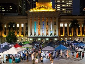 The Brisbane Twilight Markets in King George Square