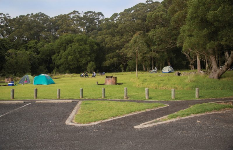 Tents in camping area