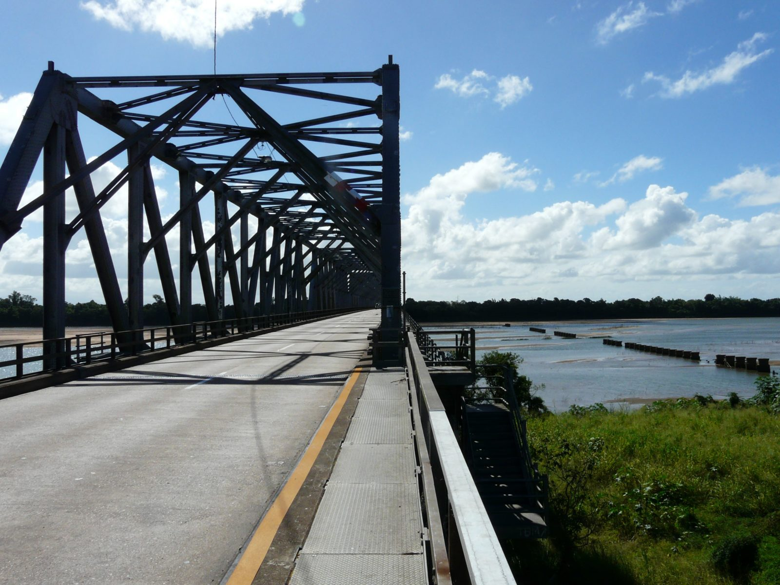 The Burdekin River Bridge is a road and rail bridge which also has a pedestrian walkway. It took ten years to complete, and was opened in 1957.