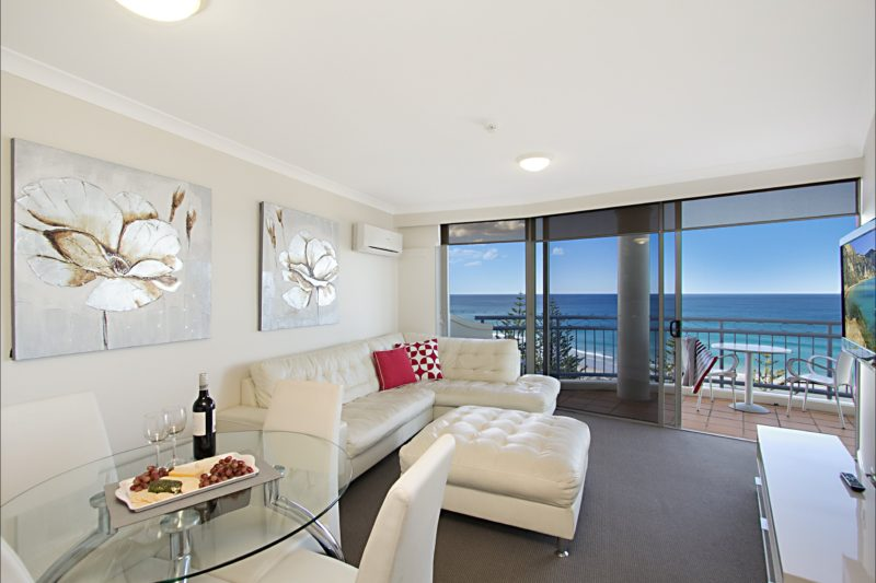 1 Bedroom Ocean View Apartment Living Area