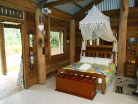 Wompoo Cabin Has Twin Beds for 2 Friends to share a Cabin
