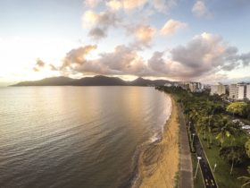 Cairns esplanade from the air