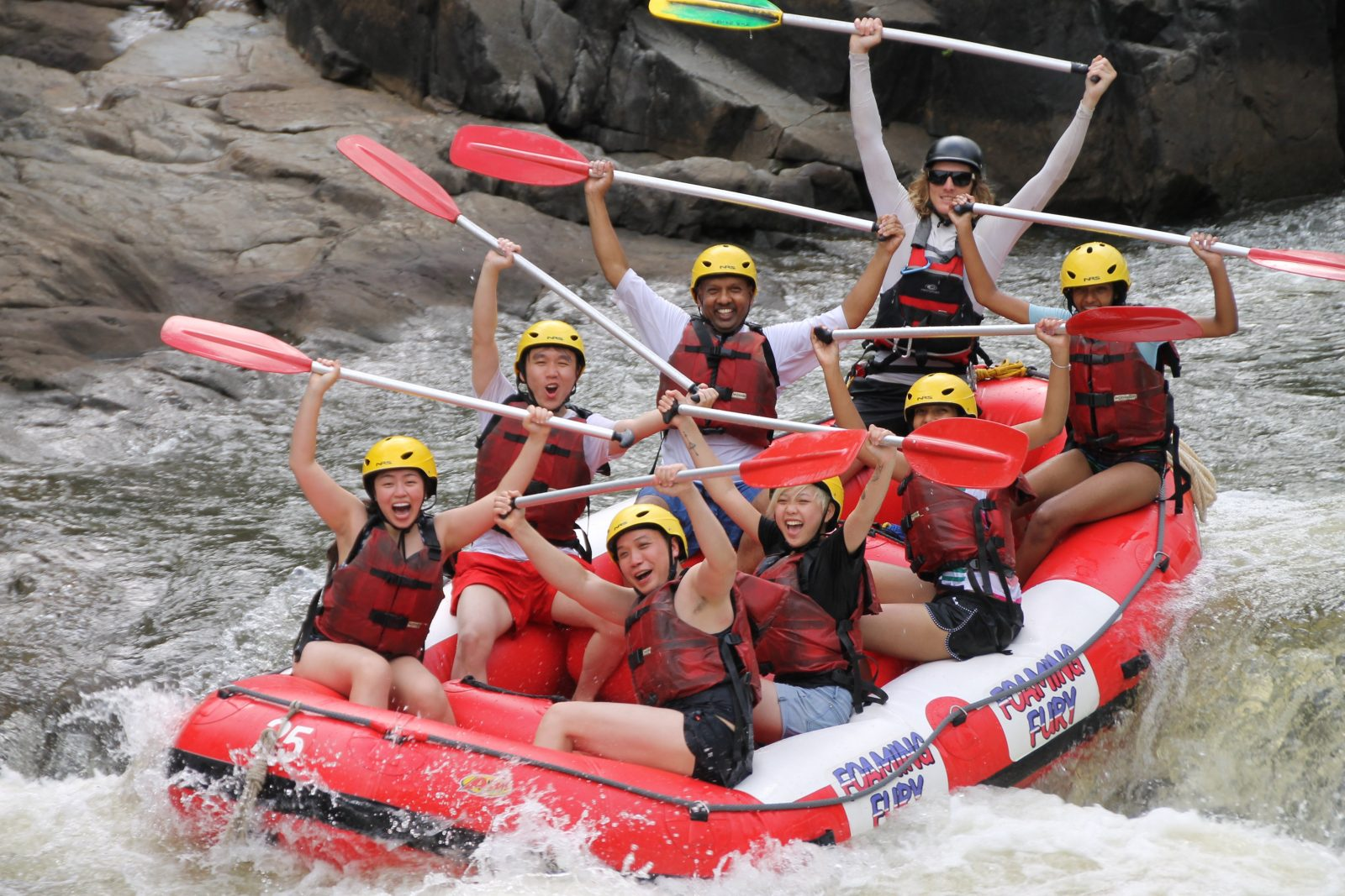 Cairns Adventure Group, white-water rafting, tours, Barron River