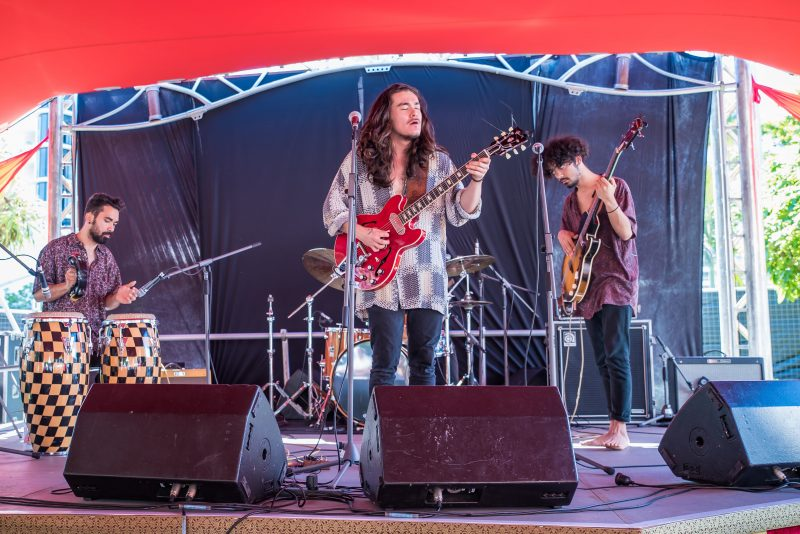 In The Element Performing at the Cairns Ecofiesta