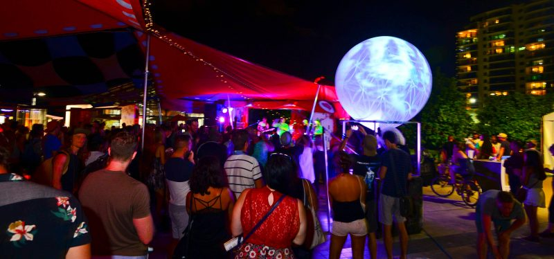 Nightime Crowds at the Cairns Ecofiesta