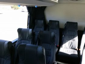 53 leather reclining seats with USB underseat