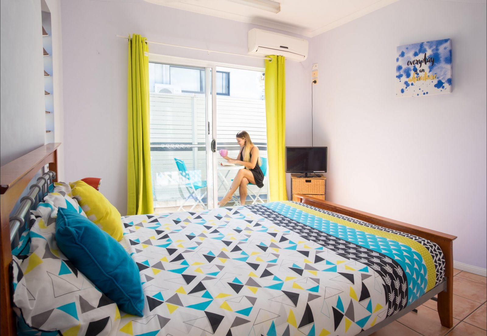 Budget double room with balcony