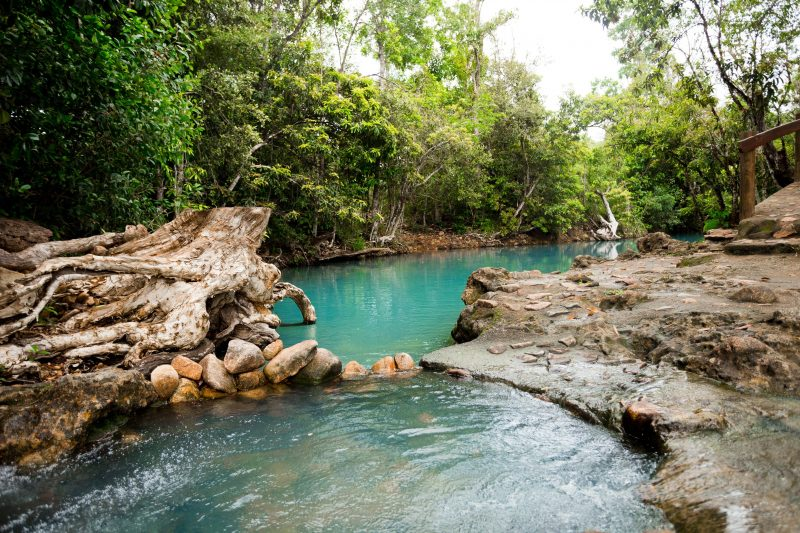Turquoise waters of the Cardwell Spa Pool