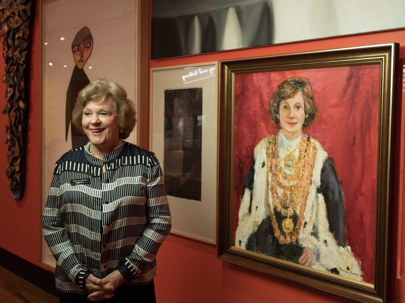 Sallyanne Atkinson AO photographed in Museum of Brisbane's New Woman exhibition