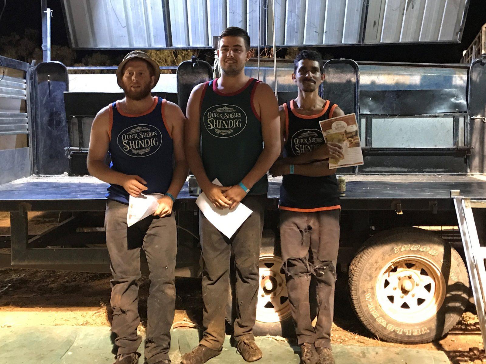 Shearing Competition Intermediate winners