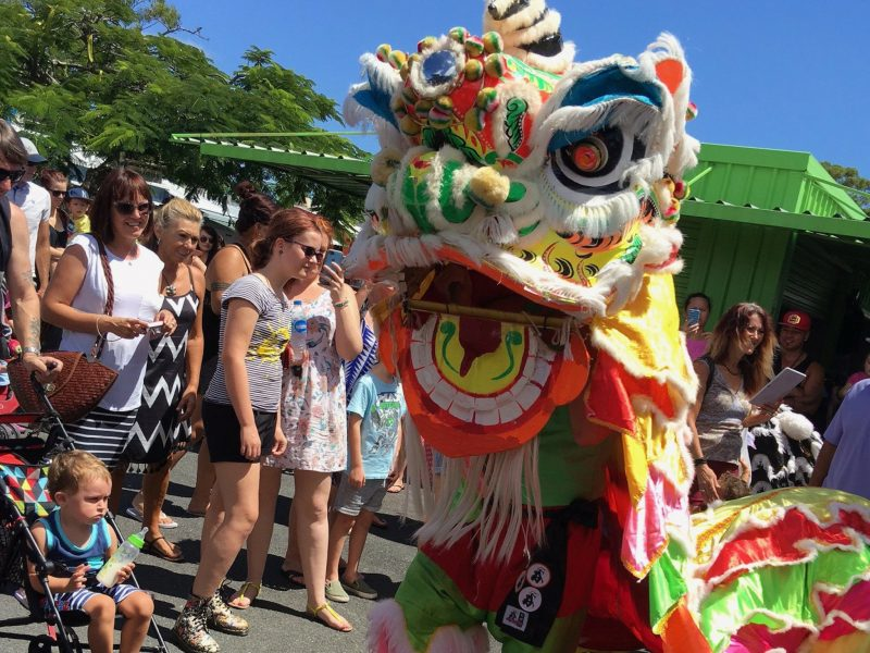 Chinese dragons at the markets