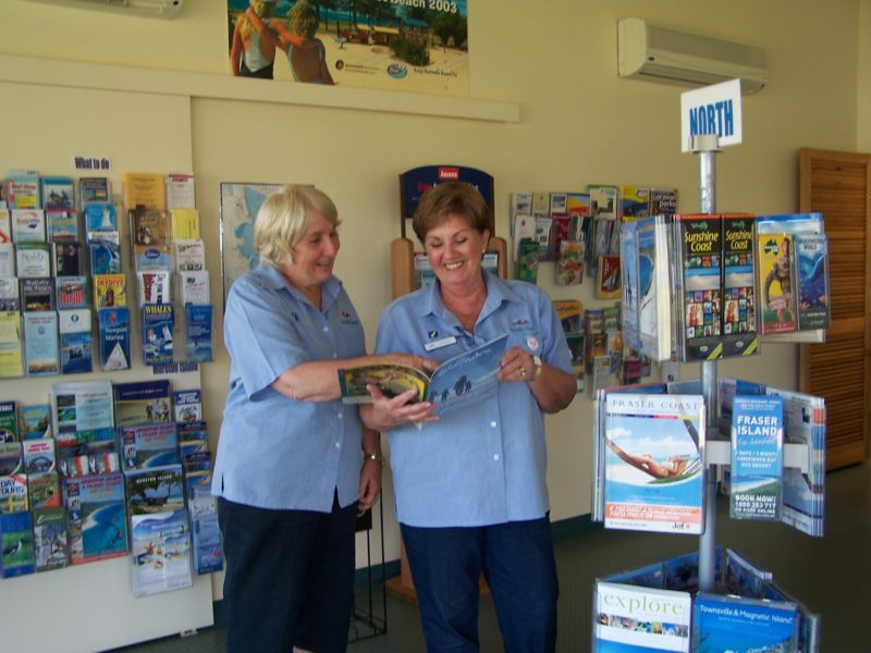Volunteers provide local and regional information and are happy to be free tour guides for bus groups