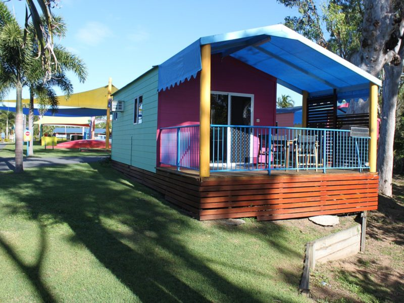 Quirky and colourful cabins