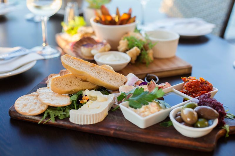 Sunset platters at Sorrentos Restaraunt - choose from a range of marina dining options
