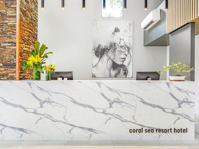Reception at Coral Sea Resort Hotel