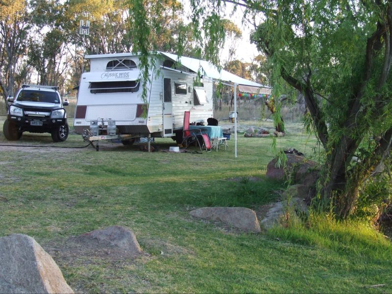 Unpowered camping by the river