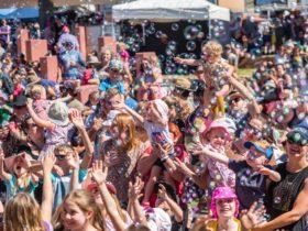 Children having fun at the Festival