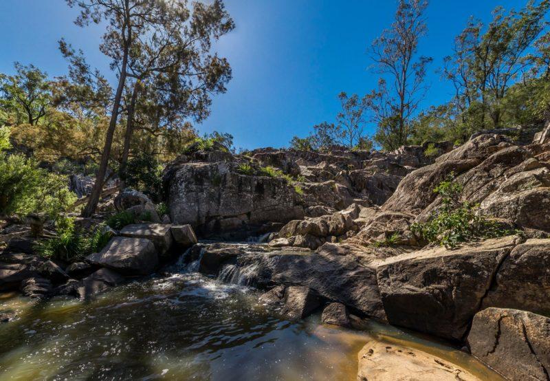 Granite boulders along Crows Nest Creek