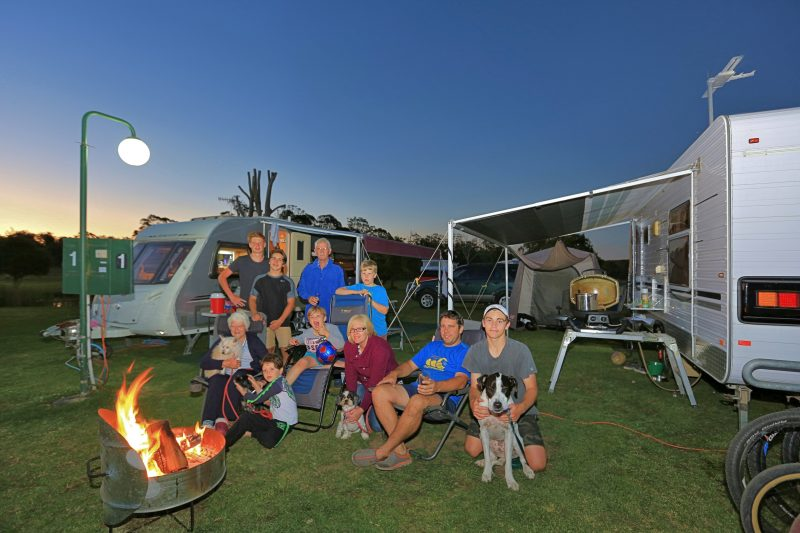 Families camping