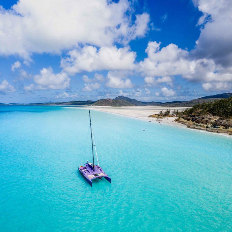 Discover Whitehaven Beach on Cruise Whitsundays' Camira Sailing Adventure