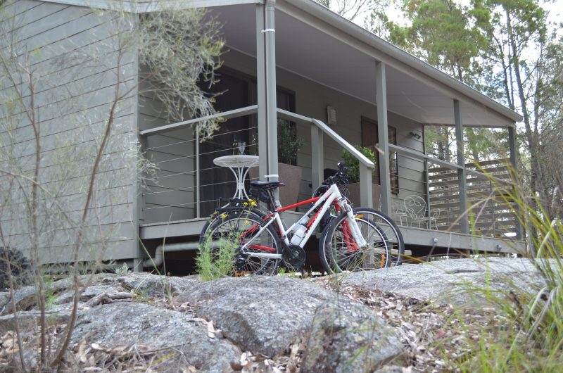 bicycles outside accommodation