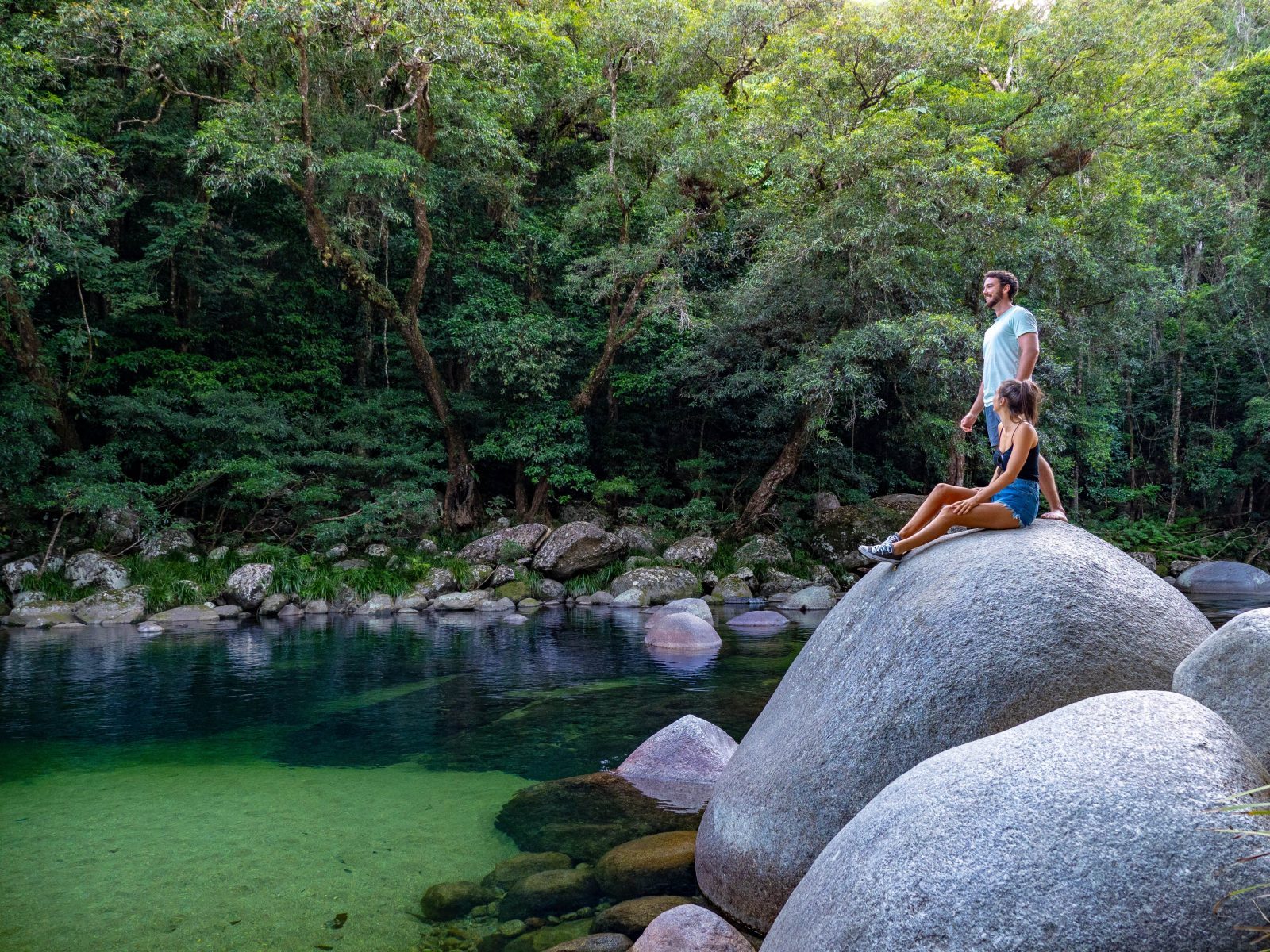 The tranquil Mossman Gorge
