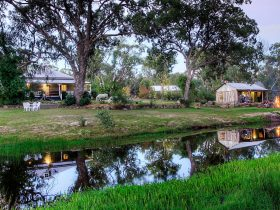 Perfectly positioned cottages, private, peaceful, nestled along the banks of the creek