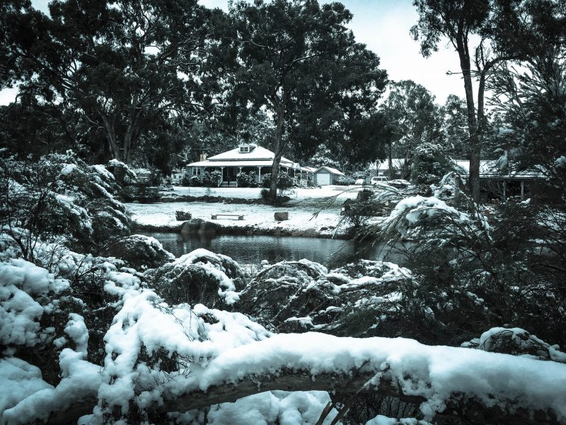 Diamondvale Homestead During 2015 Snow