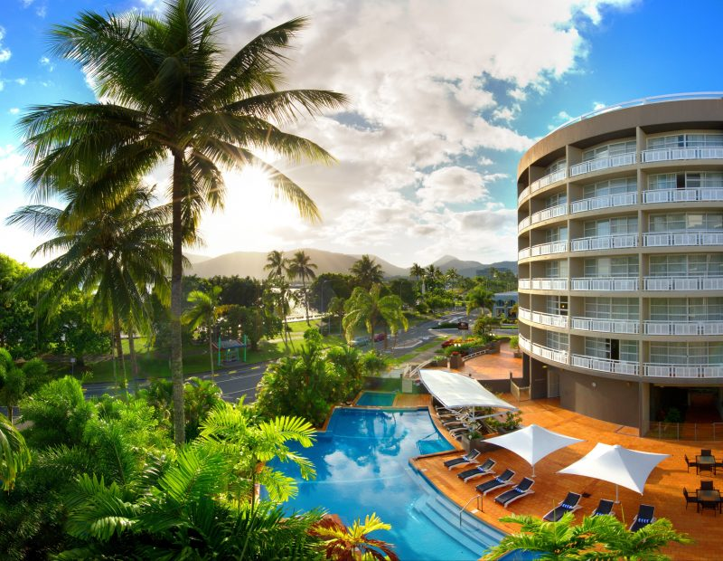 Boasting uninterrupted views of the Coral Sea, and a stunning natural setting amidst landscaped trop