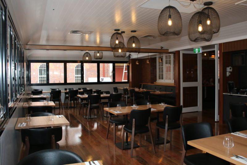 Inside Dovetails Restaurant
