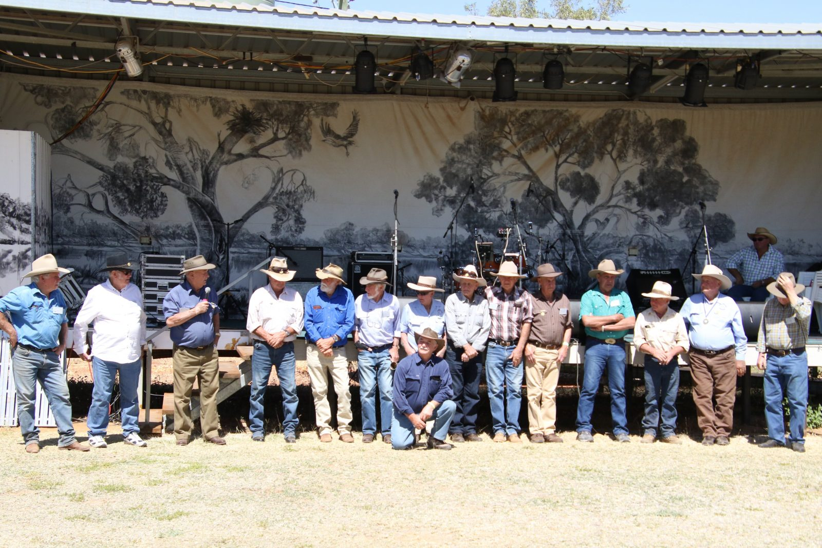 Line up of registered drovers who attended 2018 festival