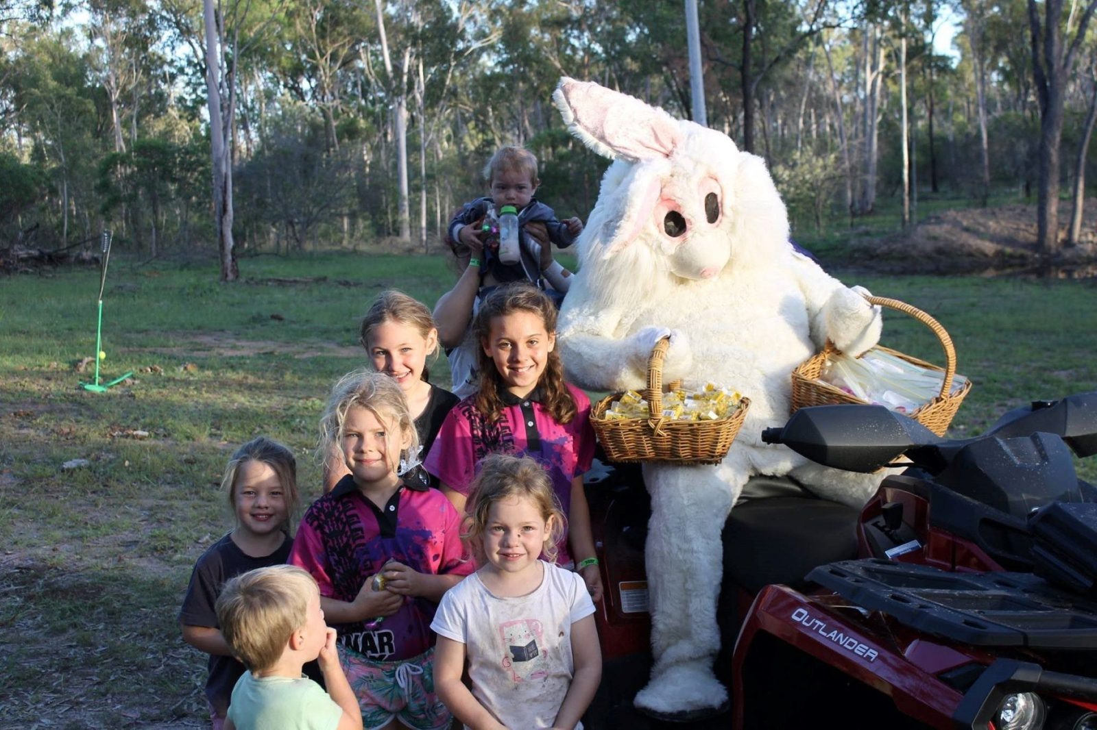 Group photo with the Easter Bunny