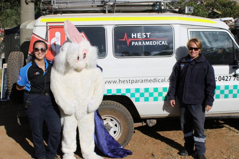 The Easter Bunny with the Paramedics