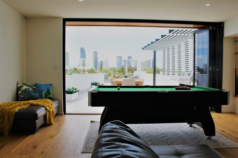 Play pool with a View