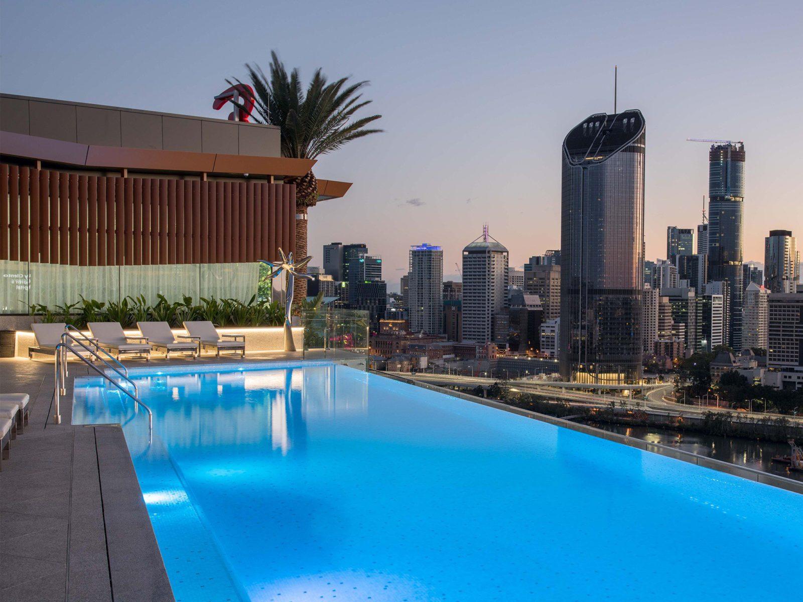 Rooftop pool Brisbane