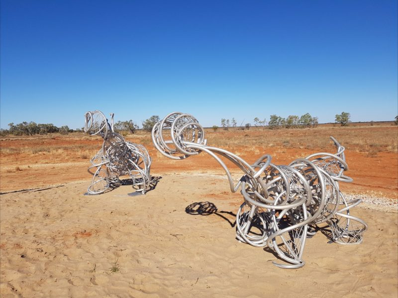 Two baby Sauropods made from Aluminium