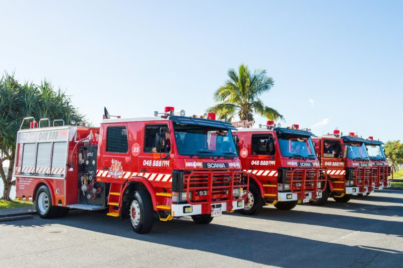 Fire truck buses for tourism services