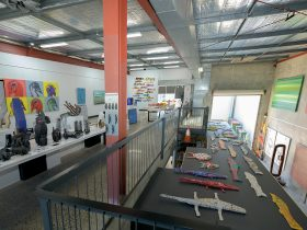 Mezzanine level at FireWorks Gallery