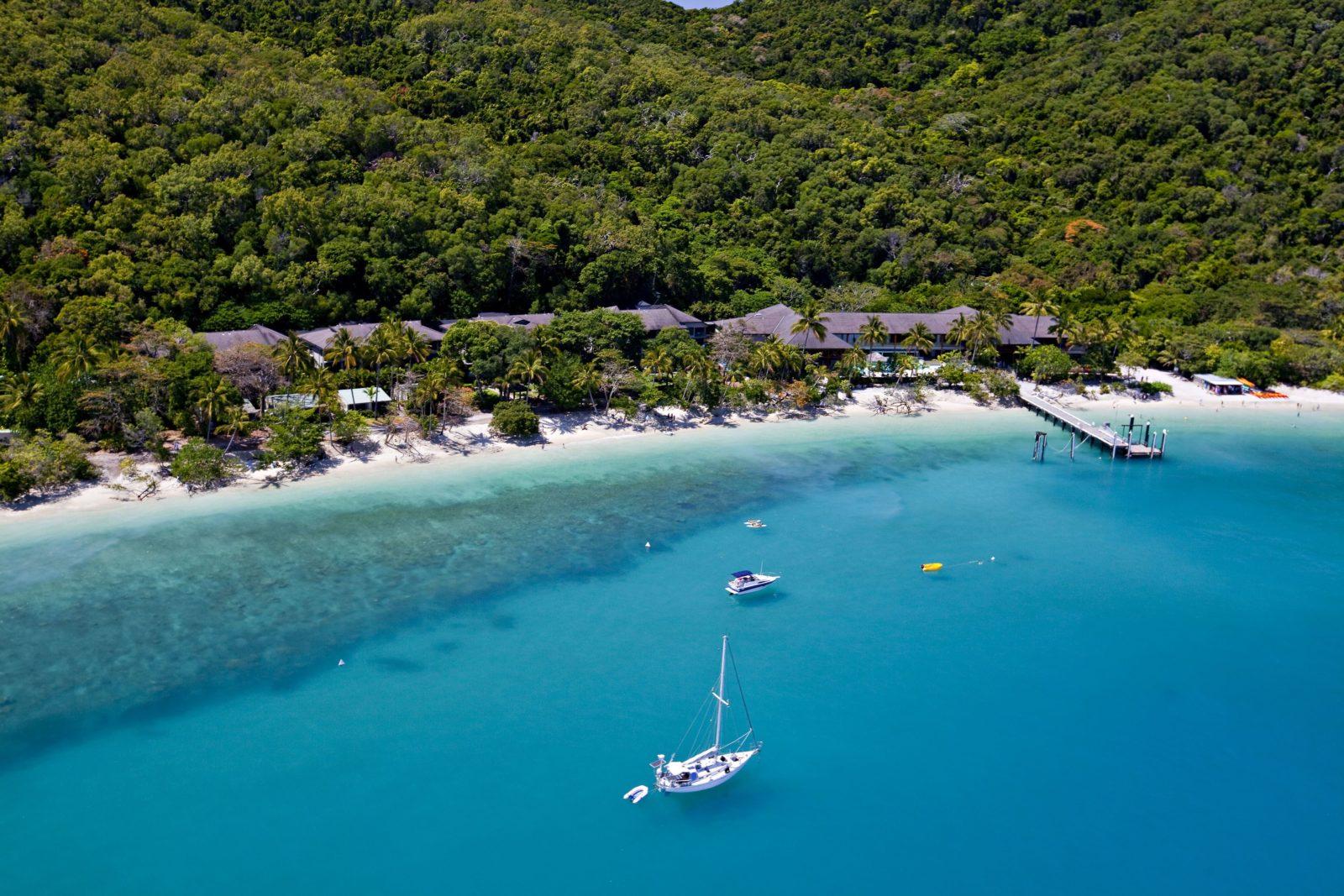 Aerial of Fitzroy Island Resort