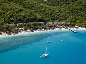 Aerial of Fitzroy Island Resort