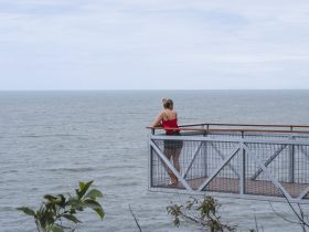 Woman at Flagstaff Hill lookout