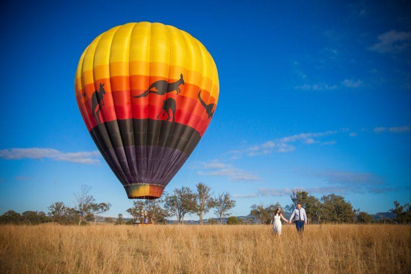 wedding ceremony in a balloon, boutique flights