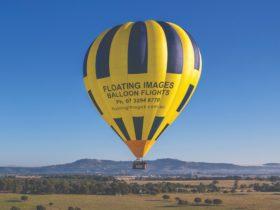 Scenic sunrise 1 hour balloon flights 30 mins west of Brisbane CBD