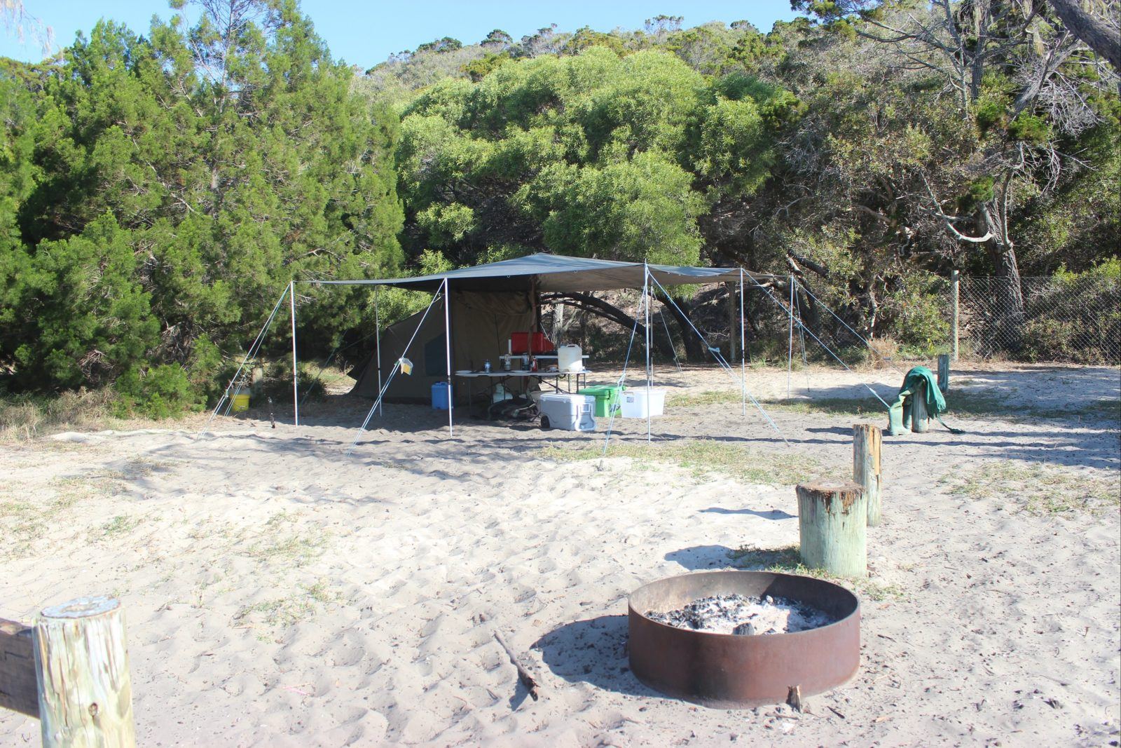 Beachfront camping at Waddy Point Fraser Island