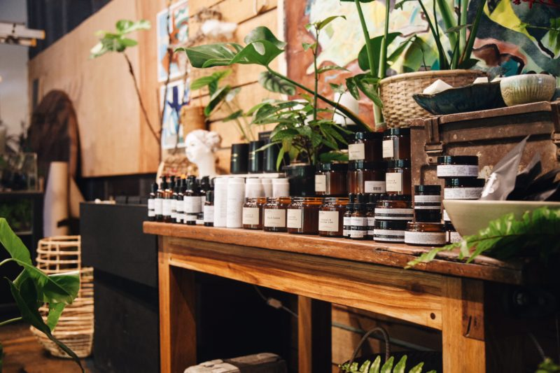 More locally crafted treasures sitting pretty amongst the greenery