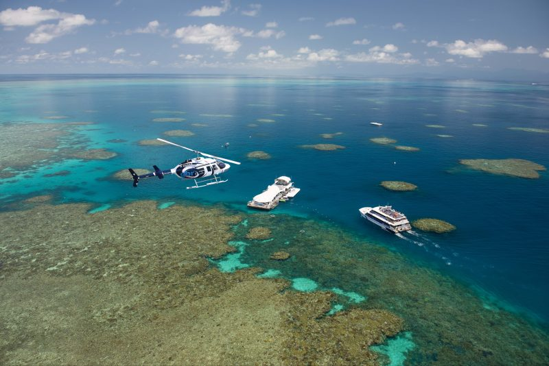 GBR Helicopters daily flights Great Adventures pontoon